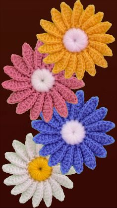 Daisy Flower Motif Crochet Tutorial This is a beginner friendly, step by step tutorial on how to crochet daisy flower motif in an easiest way. This is a fresh new pattern that will unleash. Crochet Flower Squares, Crochet Daisy, Crochet Flower Tutorial, Crochet Bear, Crochet Gifts, Crochet Motif, Crochet Flowers, Change Colors In Crochet, Crochet Decoration