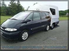 Clip-car, randocar,  cellule pick up pour voiture. mini camping car. France Bivouac et Tourisme. Tourism trailer