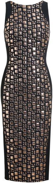 Antonio Berardi Geometric Jacquard Woolblend Dress                 LBD/V