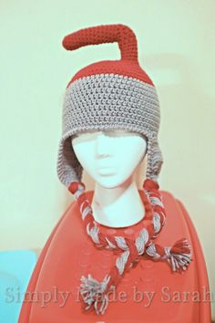 Curling rock crochet hat. I have a few of these without the strings hanging down. love love!