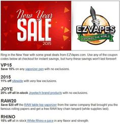 New Year New #Coupons and #Sales #EZVapes