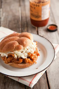 paula deen pulled bbq chicken sandwich