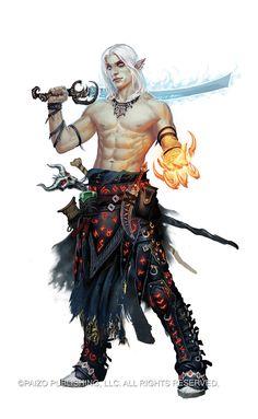 Mythic Seltyiel by Akeiron.deviantart.com on @deviantART #paizo | #pathfinder