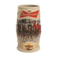 Boelter Brands Budweiser 2014 Holiday Ceramic Stein, 31-Ounce, White, 2015 Amazon Top Rated Beer Mugs & Steins #Kitchen