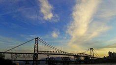 Ponte Hercílio Luz en Florianópolis, SC