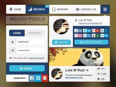 Free Web UI Kits For Graphic Designers 2013-11-13その九 玻璃模糊背景 则亮点突出表面 圆角和方块的结合