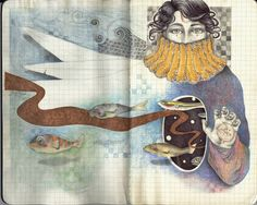 LadyOrlandoArt - Professional, Traditional Artist | DeviantArt Sketchbook Inspiration, Art Sketchbook, Artist Journal, Journal Art, Journal Ideas, Drawing Sketches, Drawings, Sketches Of People, Paper Book