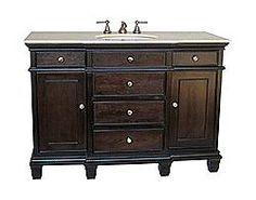 "50"" Diana (DA-680) : Bathroom Vanity #BathroomRemodel #BlondyBathHome #BathroomVanity #TransitionalVanity"