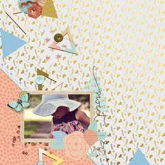 Peachy Keen Layout - Marisa Lerin