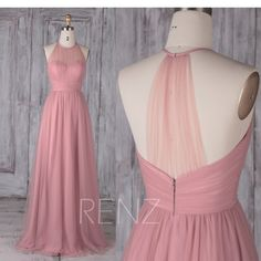 Bridesmaid Dress Dusty Pink Tulle Dress Wedding Dress Illusion Sweetheart Maxi Dress Halter Sleeveless Prom Dress A-Line Party image 0 Dusty Pink Dresses, Black Bridesmaid Dresses, Pink Wedding Dresses, Party Dresses, Bridesmaids, Formal Dresses, Dress Wedding, Tulle Wedding, Mini Dresses