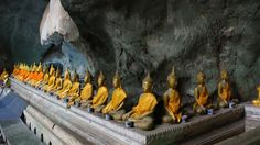 Buddha's in the cave in Thailand