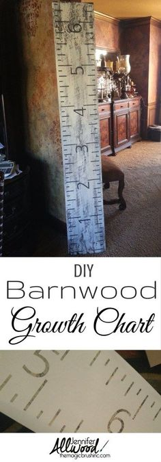 DIY Painted Growth Chart Ruler | Magic Brush | How to paint a growth chart on reclaimed barnwood | Repurposed barnwood projects | Children's gift ideas
