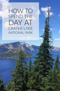 How to Spend the Day at Crater Lake National Park There are a lot of things to do at Crater Lake. Revel in the views along historic Rim Drive or take a ranger-narrated boat tour to Wizard Island. Crater Lake Lodge, Crater Lake Oregon, Crater Lake National Park, Crater Lake Hikes, Oregon Road Trip, Oregon Travel, Travel Usa, National Parks Map, National Park Posters
