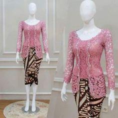 Kebaya Pink, Kebaya Lace, Kebaya Brokat, Batik Kebaya, Kebaya Dress, Batik Dress, Model Rok Kebaya, Model Kebaya Modern, Kebaya Modern Dress
