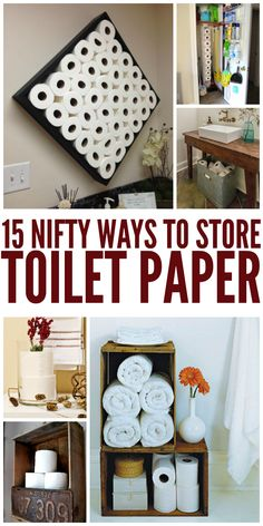 15 Nifty Ways To Toilet Paper Bathroom Hacks Cleaning Toilets