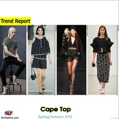 Cape Top Trend for Spring Summer 2015. Hellessy, Chanel, Saint Laurent, and Osman Spring Summer 2015. #SS2015 #SS15