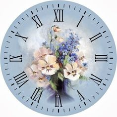 PANSY FACE CLOCK - Szukaj w Google                                                                                                                                                                                 More