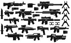 Set i NEW Lego Star Wars 8x Minifigure Weapons Black