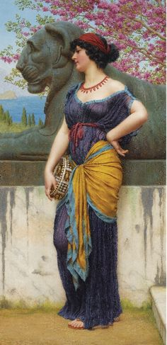 In the Grove of the Temple of Isis  John William Godward