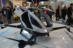 We've seen some pretty coolstuff on day 1 of CES 2016, but probably nothing more eye-catching than the EHang 184, a human-sized drone built by the Chinese..