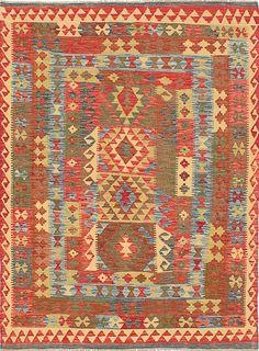 One-of-a-Kind Hereke Handmade Wool Red Area Rug