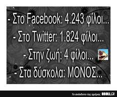 Στο Facebook: 4.243 φίλοι…