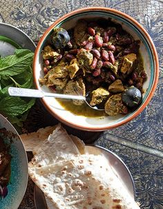 Ghormeh Sabzi (Veal and Kidney Bean Stew) Recipe, courtesy of Homemade Recipes Blogspot.