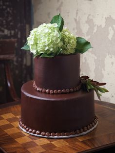 Cakes: Garden Variety - My New Orleans Chocolate Fondant, Chocolate Buttercream, Wedding Cake Fillings, Almond Wedding Cakes, Cream Cheese Buttercream, Brides Cake, Floral Event Design, Winter Springs, Floral Style