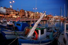 The harbor in Cambrils Spain