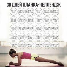 Попобуй делать планеу 30 дней, как указано на фото🔥 Результатом будешь удивлена☝👍 А Вы делаете планку? .  #назаметку #полезныесоветы Fitness Tracker, Fitness Diet, Yoga Fitness, Health Fitness, At Home Workout Plan, At Home Workouts, Sport Motivation, Fitness Motivation, Fitness Armband