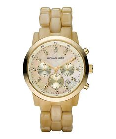 Mother-of-Pearl Classic Chronograph Watch by Michael Kors  - Click pics for best price <3