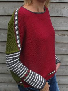 FF backward pattern by alfa knits - Ravelry: Project Gallery for FF backward pattern by atelier alfa - Ravelry, Sweater Knitting Patterns, Knit Patterns, Drops Baby, Cropped Knit Sweater, Striped Knit, Pulls, Knitted Hats, Knitwear