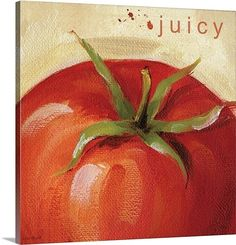 "Want to decorate your kitchen, or planning a food themed room? Lisa Audit's unique ""Juicy"" will help add a little flavor! Other appetizing choices are available at GreatBIGCanvas.com!"
