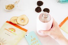 Two must-haves: healthy snacks + cute water bottle // How to stay healthy during the holidays via @laurenconrad1
