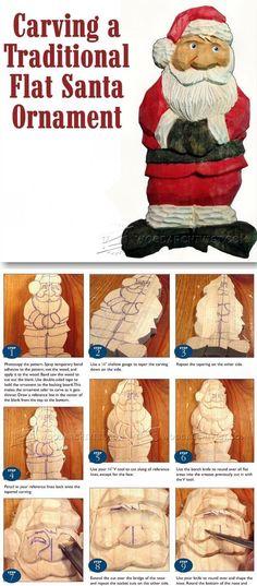 Carving Santa Ornament - Wood Carving Patterns and Techniques | WoodArchivist.com