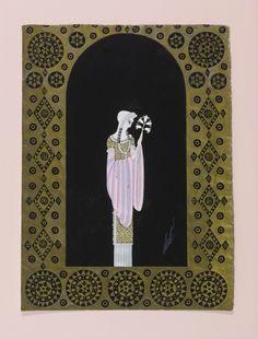 erte, romain de tirtoff co Gouache, Fashion Art, Vintage Fashion, Romain De Tirtoff, Art Deco, Fancy Costumes, Popular Art, Russian Art, Impressionist