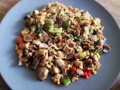 Koolhydraatarme recepten: Kipgehakt gerecht
