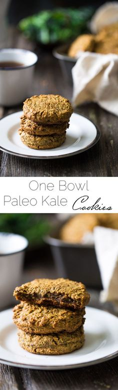 Paleo Breakfast Cookies with Kale - Made in the food processor for a quick, easy and healthy portable breakfast! You won't even know they have hidden veggies! | Foodfaithfitness.com | @FoodFaithFit