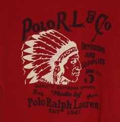 VTG Polo Ralph Lauren Thermol Indian Head Red Shirt Marked XL ( 18-20) Rare #PoloRalphLauren #Pullover