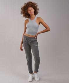 0b0c4a9057050 Gymshark Serene Sports Crop Top - Light Grey Marl
