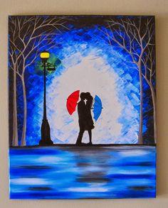umbrella silhouette couple - Google Search