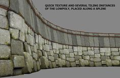 Wall tutorial, lowpoly asset + base highpoly.
