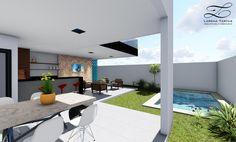 Lorena Tartas Arquitetura e Urbanismo | Casa Verona - O projeto da casa consiste em 4 suítes no pavimento superior, 1 suíte no pavimento inferior e cozinha e sala de jantar integradas com a área de lazer .