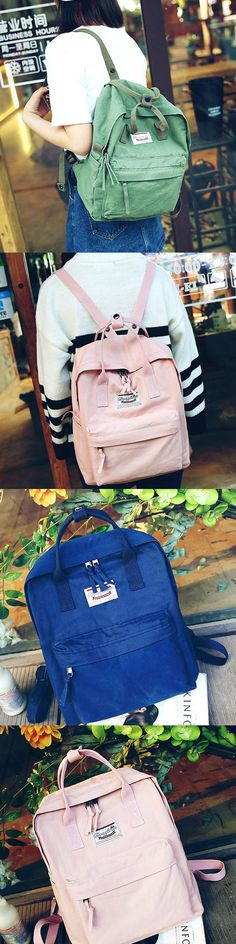 2017 Fashion Travel Handbag Backpack Leisure Canvas Lady School Rucksack