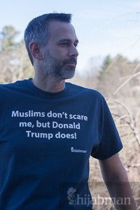 """Unisex """"Muslims don't scare me, Donald Trump does!"""" Short Sleeve Shirt ***This is awesome! Say More, Republican Party, I Am Scared, Muslim, Donald Trump, Unisex, Feelings, Sayings, Shit Happens"""
