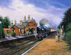 Beautiful Print Picture Painting Bodmin At Ropley Steam Train Locomotive Railway Train Art, British Rail, Train Pictures, Cartoon Art Styles, Art Uk, Steam Engine, Steam Locomotive, Train Tracks, Pictures To Paint