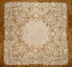 My choice for best lace from the 5/29/2016 Ebay Alerts. Point de Gaze handkerchief.