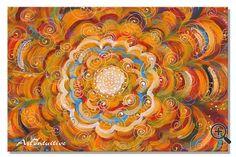 Yoga painting Mandala yellow painting 60х60 cm от Artintuitive