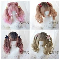 Behind every glowing complexion is a solid face wash that made it all possible. Kawaii Hairstyles, Pretty Hairstyles, Cute Hairstyles, Hairdos, Anime Wigs, Anime Hair, Cosplay Hair, Anime Cosplay, Kawaii Wigs