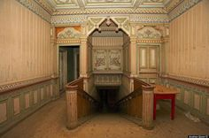 Interior of one of the Russian mansions.